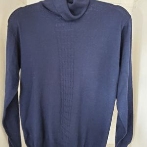 Talbots Turtleneck Cashmere blend navy blue size M